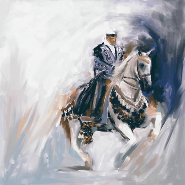Arab Horse Painting - Painting 780 2 Arabian Horse Rider by Mawra Tahreem