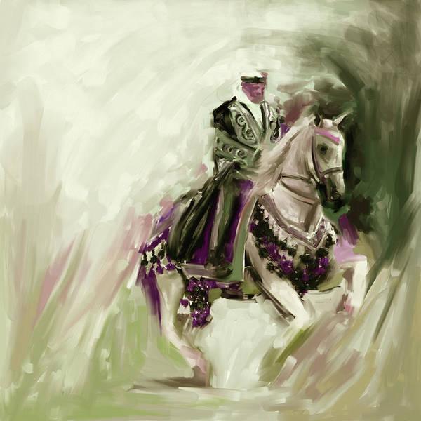 Arab Horse Painting - Painting 780 3 Arabian Horse Rider by Mawra Tahreem