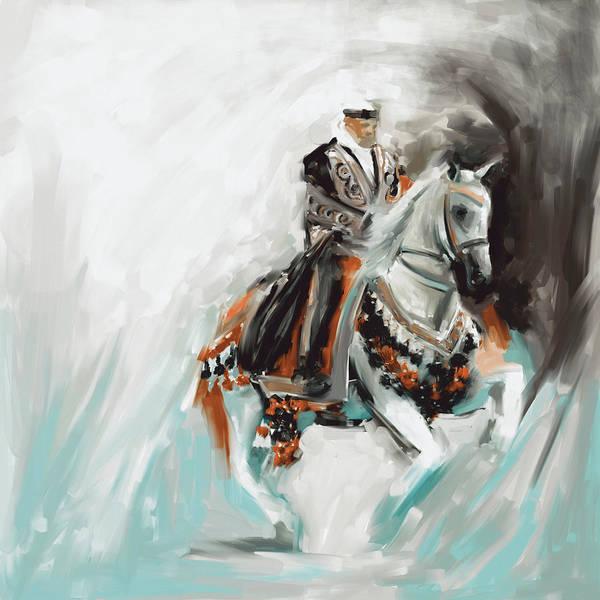Arab Horse Painting - Painting 780 4 Arabian Horse Rider by Mawra Tahreem
