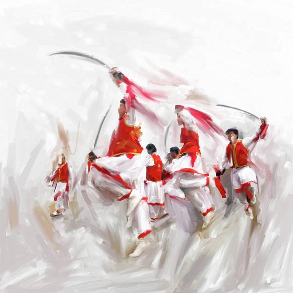 Wall Art - Painting - Painting 783 1 Khattak Dancer 1 by Mawra Tahreem