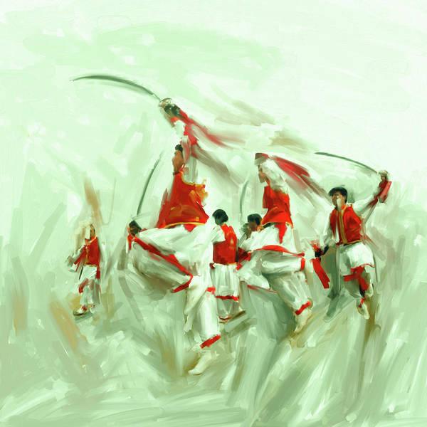 Wall Art - Painting - Painting 783 4 Khattak Dance I by Mawra Tahreem