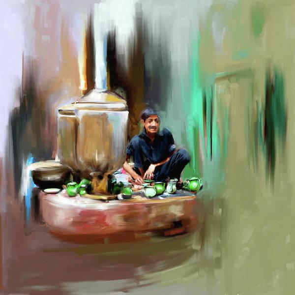 Wall Art - Painting - Painting 788 1 Kpk Tea Culture by Mawra Tahreem