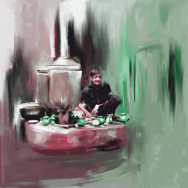 Culture Painting - Painting 788 2 Kpk Tea Culture by Mawra Tahreem