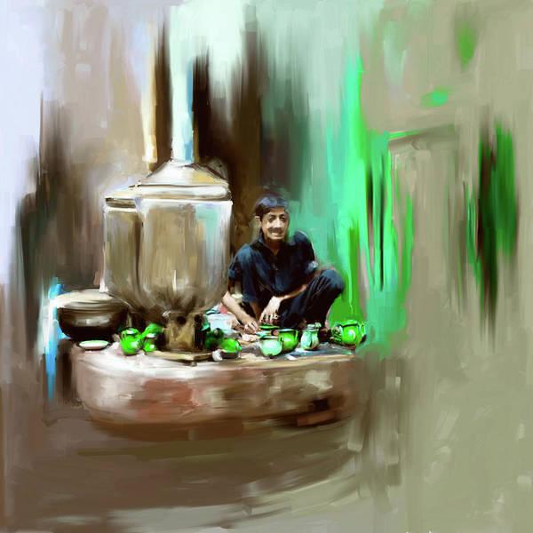 Culture Painting - Painting 788 3 Kpk Tea Culture by Mawra Tahreem