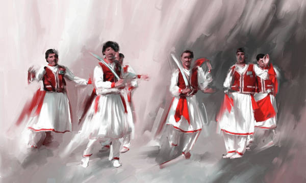 Wall Art - Painting - Painting 789 2 Khatak Dancer II by Mawra Tahreem