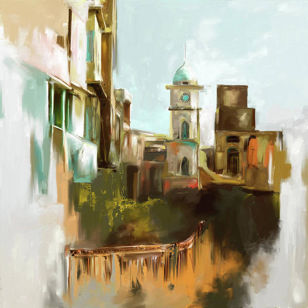 Clock Tower Painting - Painting 790 1 Cunningham Clock Tower by Mawra Tahreem