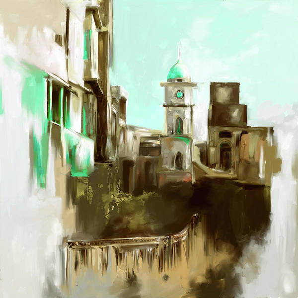 Clock Tower Painting - Painting 790 3 Cunningham Clock Tower by Mawra Tahreem