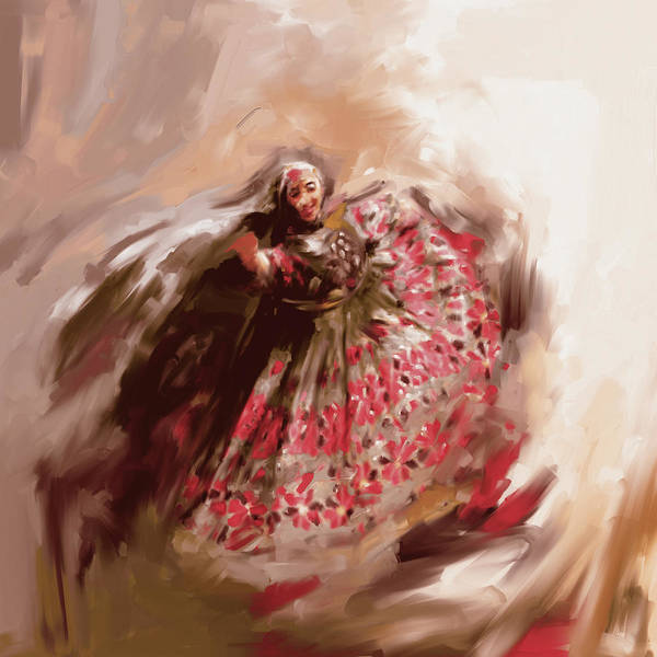 Traditional Dances Painting - Painting 792 1 Attan by Mawra Tahreem