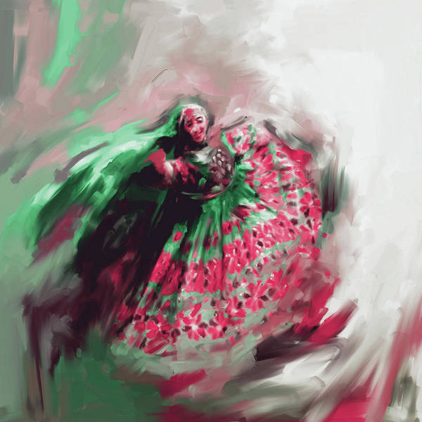 Traditional Dances Painting - Painting 792 3 Attan by Mawra Tahreem