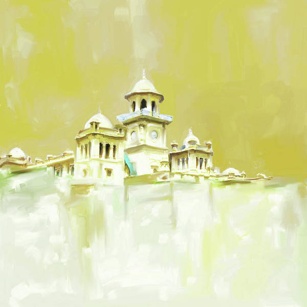 Wall Art - Painting - Painting 795 1 Islamia College Peshawar by Mawra Tahreem