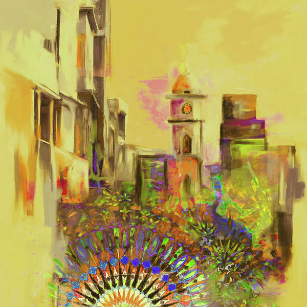 Clock Tower Painting - Painting 796 3 Cunningham Clock Tower by Mawra Tahreem