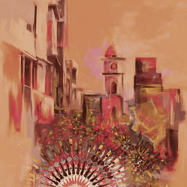 Clock Tower Painting - Painting 796 4 Cunningham Clock Tower by Mawra Tahreem