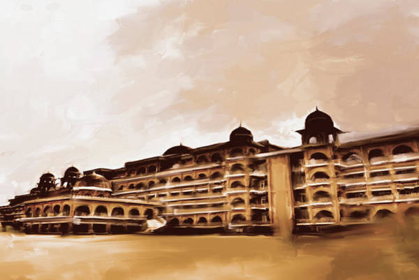 Wall Art - Painting - Painting 797 3 Peshawar University by Mawra Tahreem