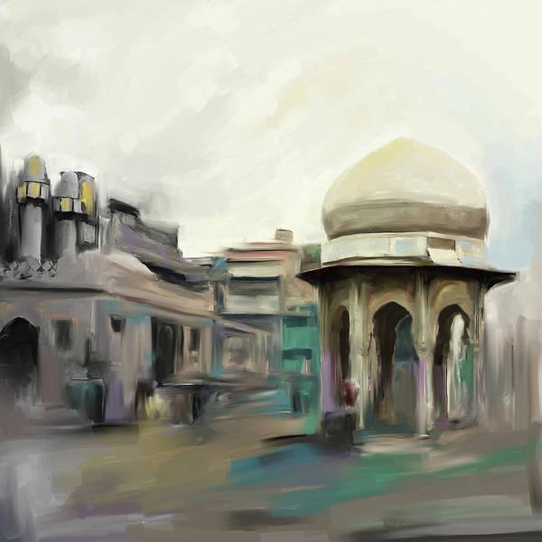 Wall Art - Painting - Painting 798 1 Chowk Yadgaar by Mawra Tahreem