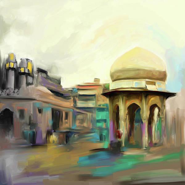 Wall Art - Painting - Painting 798 3 Chowk Yaadgar by Mawra Tahreem