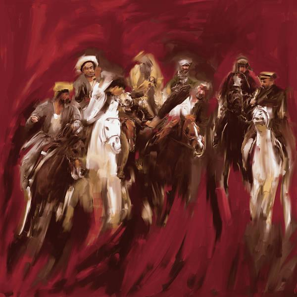 Wall Art - Painting - Painting 799 2 Buzkashi by Mawra Tahreem