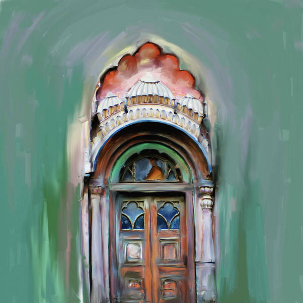Wall Art - Painting - Painting 802 1 Sethi Street Door by Mawra Tahreem