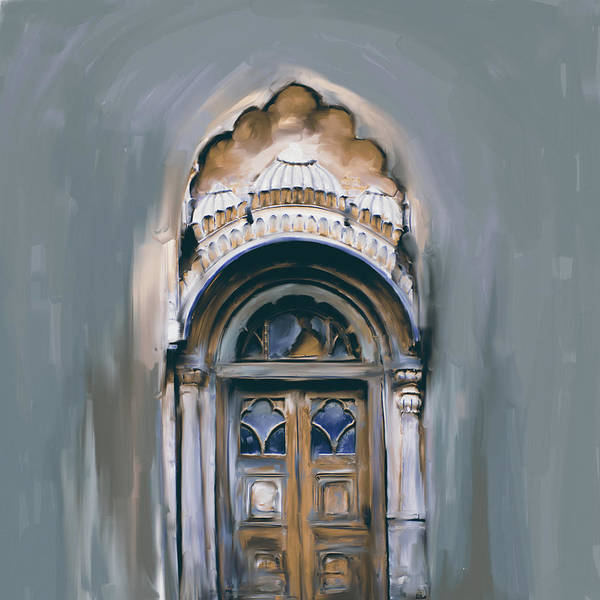 Wall Art - Painting - Painting 802 2 Sethi Street Door by Mawra Tahreem