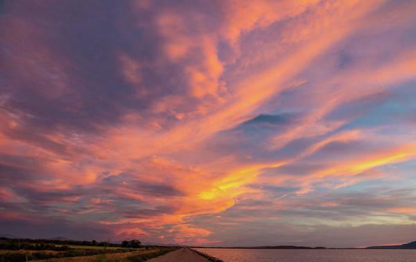 Lake Sunset Photograph - Painting By Sun by Hyuntae Kim