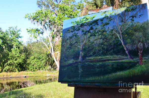 Wall Art - Painting - Painting Croton Pond by AnnaJo Vahle