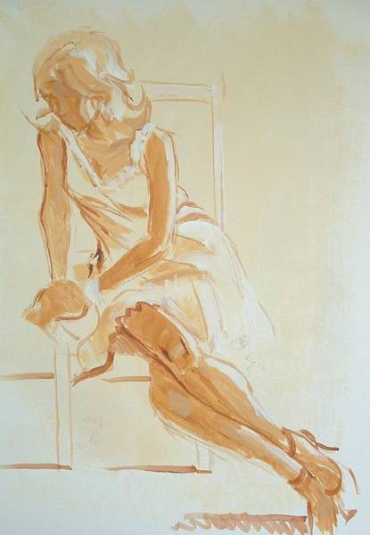 Painting - Painting Of A Young Woman by Mike Jory