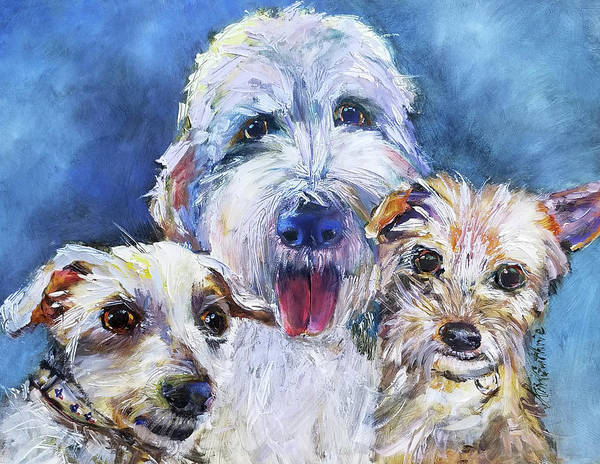Wall Art - Painting - Painting Of Dogs In Oil by Kim Guthrie