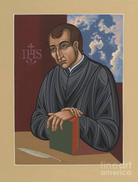 Painting - Painting Of Fr Balthasar Gracian Sj 180 by William Hart McNichols