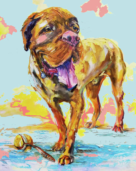 Wall Art - Painting - Painting Of Rescue Dog Commission by Kim Guthrie