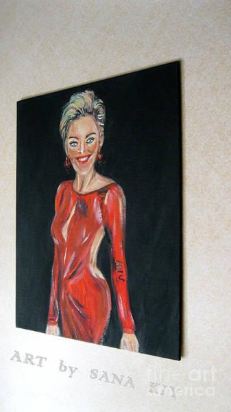 Painting - Painting Of Sharon Stone by Oksana Semenchenko