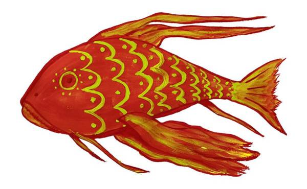 Painting Red Fish Art Print