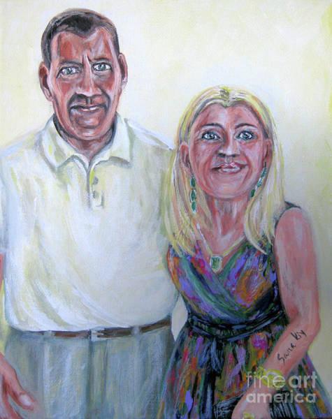 Painting - Painting.portrait. Robert And Oksana by Oksana Semenchenko