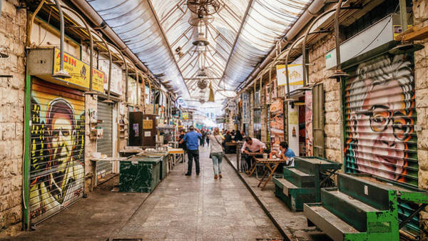 Photograph - Paintings On The Stalls Of The Machane Yehuda Market, Jerusalem by Alexandre Rotenberg