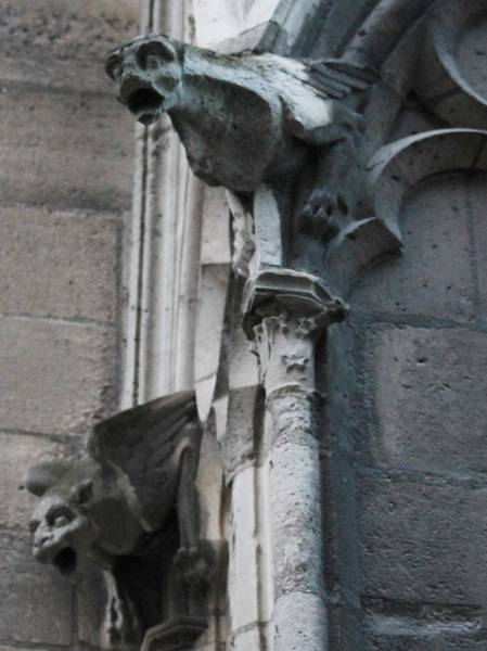 Photograph - Pair Of Griffons Of Notre Dame by Christopher Kirby