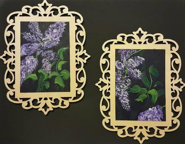 Painting - Pair Of Lilacs                 50 by Cheryl Nancy Ann Gordon