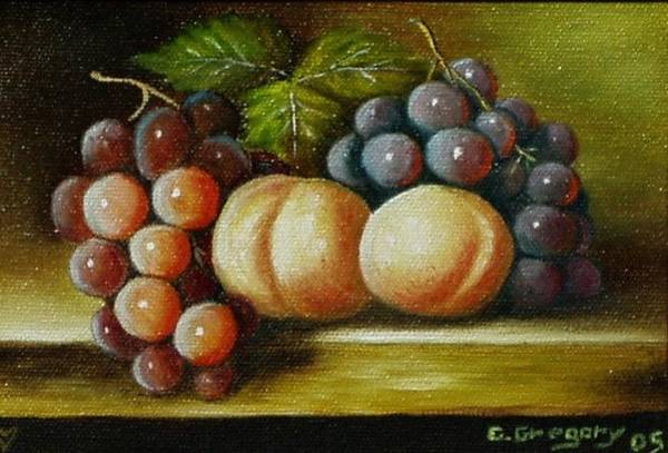 Painting - Pair Of Peachs by Gene Gregory