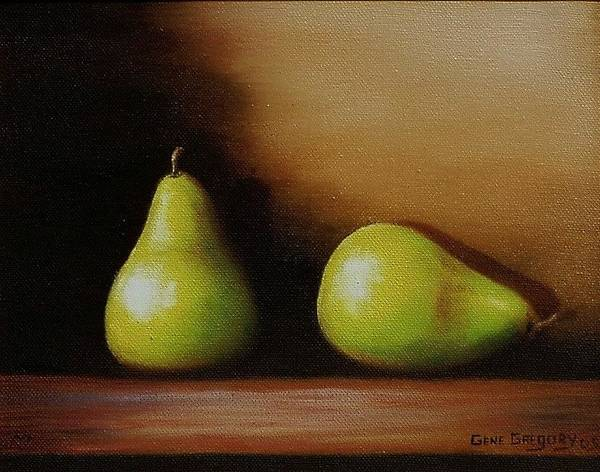 Painting - Pair Of Pears by Gene Gregory