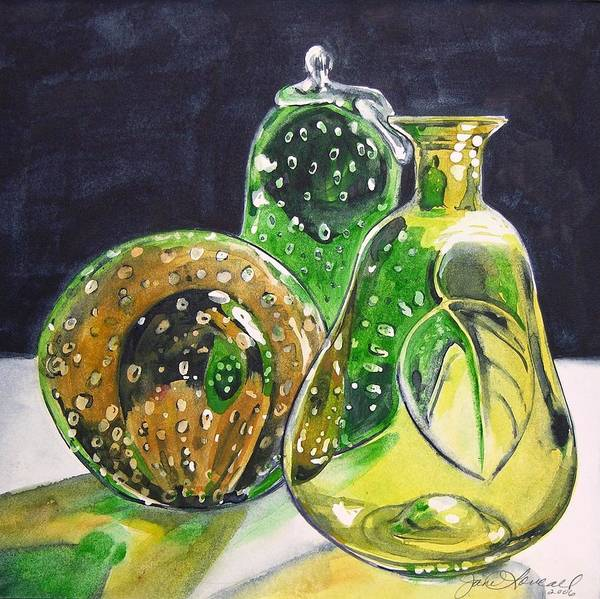 Painting - Pair Of Pears by Jane Loveall