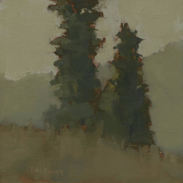 Painting - Pair Of Trees by John Holdway