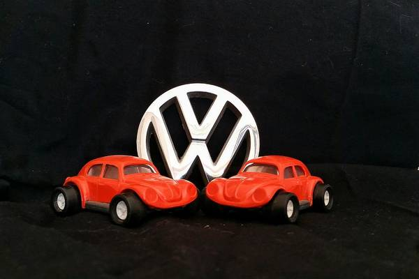 Photograph - Pair Of Volkswagen Bugs by Tony Baca