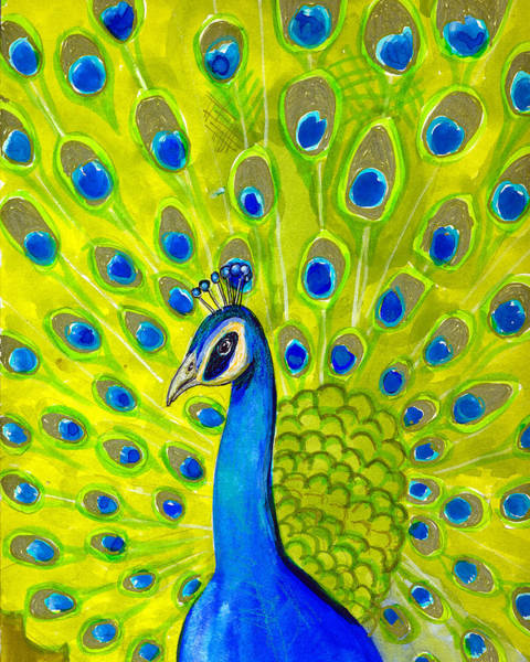 Wall Art - Painting - Paisley Peacock by Blenda Studio