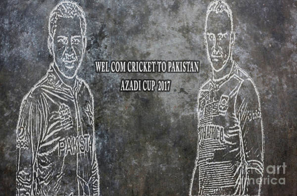 Photograph - Pakistan Is Hosting Its First Big International Cricketing Event On Home Soil For Eight Years. by Sajid Ch