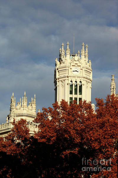 Photograph - Palace Of Communication In Autumn Madrid by James Brunker