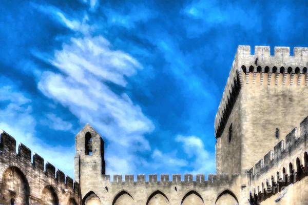 Photograph - Palace Of The Popes In Avignon by Mel Steinhauer
