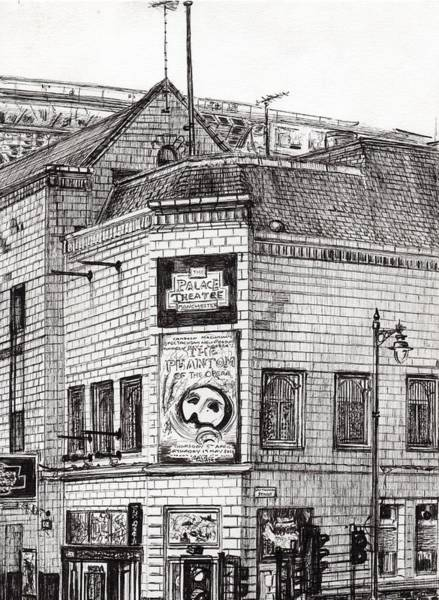 Greater Manchester Wall Art - Drawing - Palace Theater Manchester by Vincent Alexander Booth