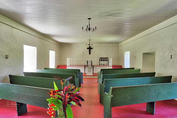 Photograph - Palapala Ho'omau Congregational Church Interior by Jim Thompson