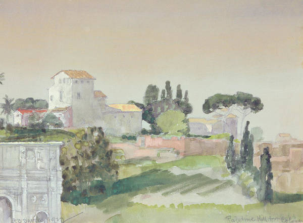 Wall Art - Painting - Palatine Hill From The Colosseum by Arthur Bowen Davies