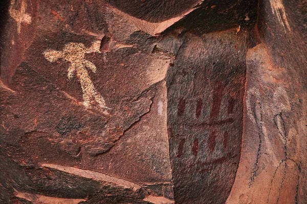Photograph - Palatki Pictographs8 Txt by Theo O'Connor