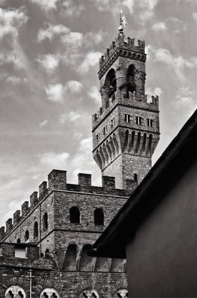 Photograph - Palazzo Vecchio Tower by Mick Burkey