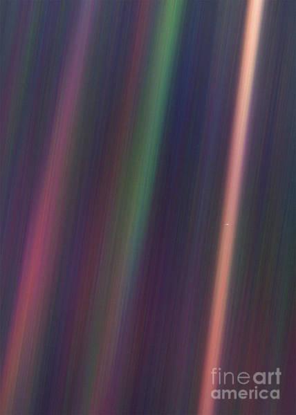 Pale Blue Dot Wall Art - Photograph - Pale Blue Dot, Voyager 1  by Doc Braham