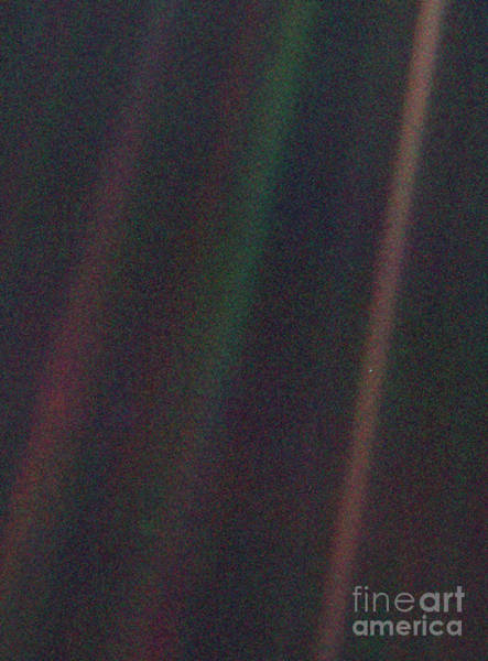 Far Away Wall Art - Photograph - Pale Blue Dot, Voyager 1 Image by Science Photo Library